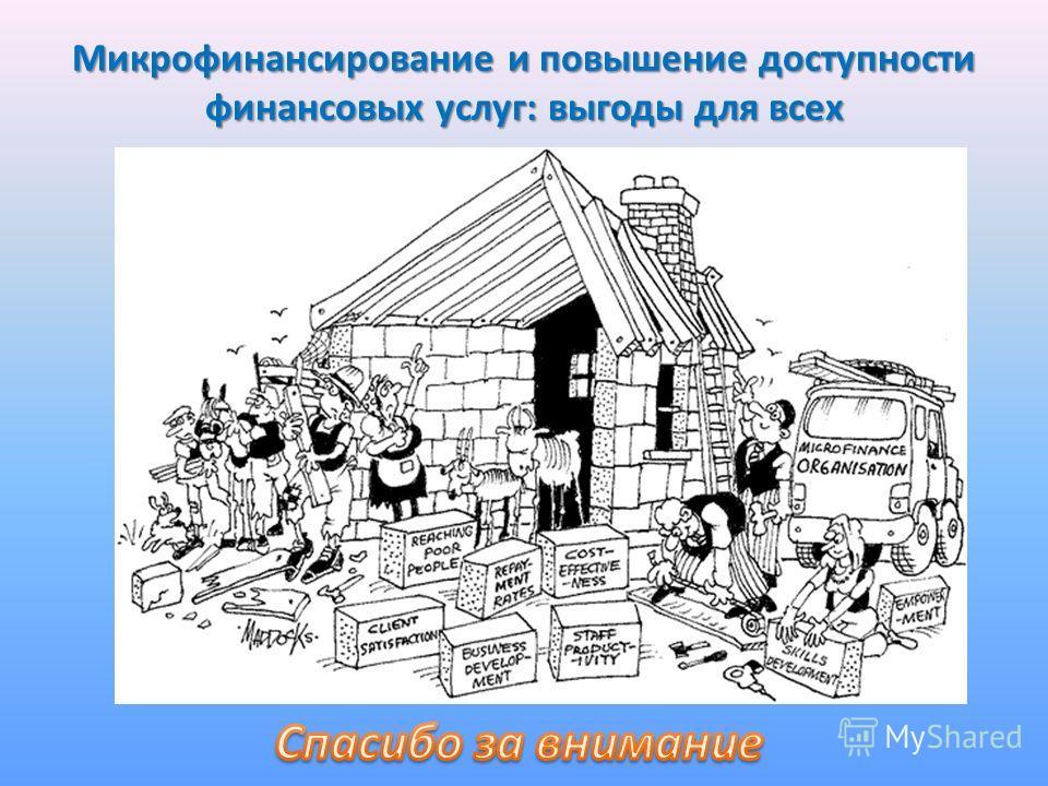 Микрофинансирование и повышение доступности финансовых услуг: выгоды для всех