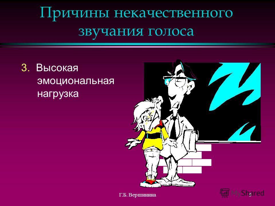 4 Причины некачественного звучания голоса 1.Врожденная слабость голосового аппарата (неразвитость органов звукоизвлечения) 2.Высокая голосовая (речевая) нагрузка