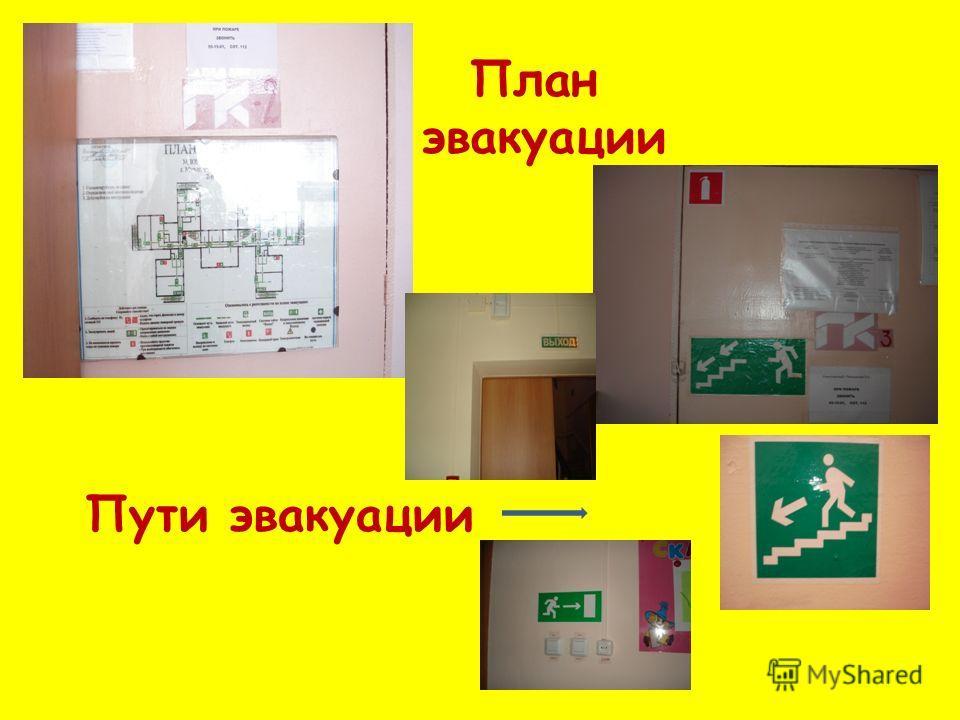 Пути эвакуации План эвакуации