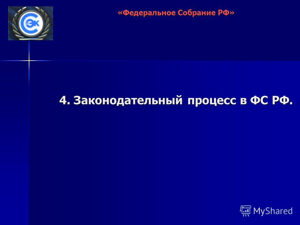 4. Законодательный процесс в ФС РФ. «Федеральное Собрание РФ»
