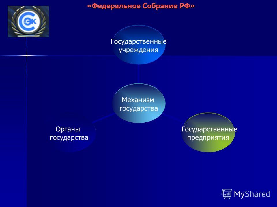 Механизм государства Государственные учреждения Государственные предприятия Органы государства «Федеральное Собрание РФ»