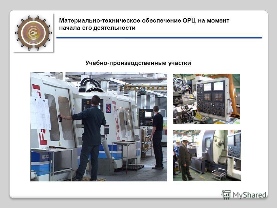 Учебно-производственные участки Материально-техническое обеспечение ОРЦ на момент начала его деятельности