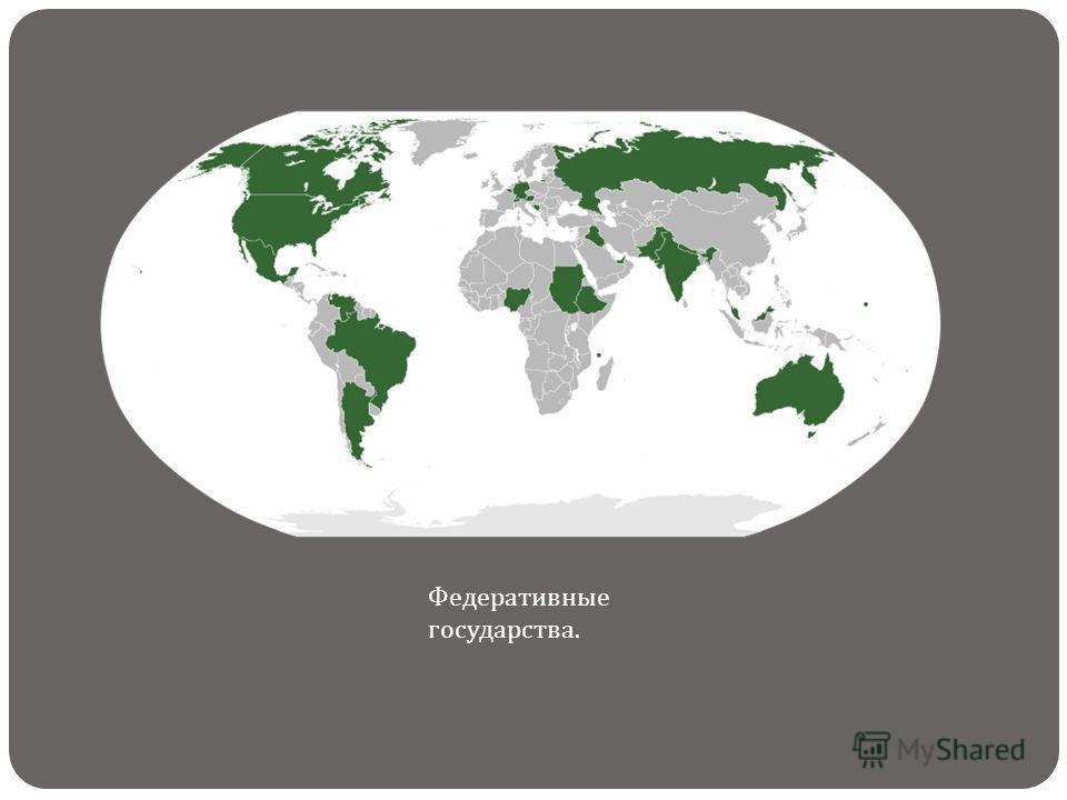 Федеративные государства.