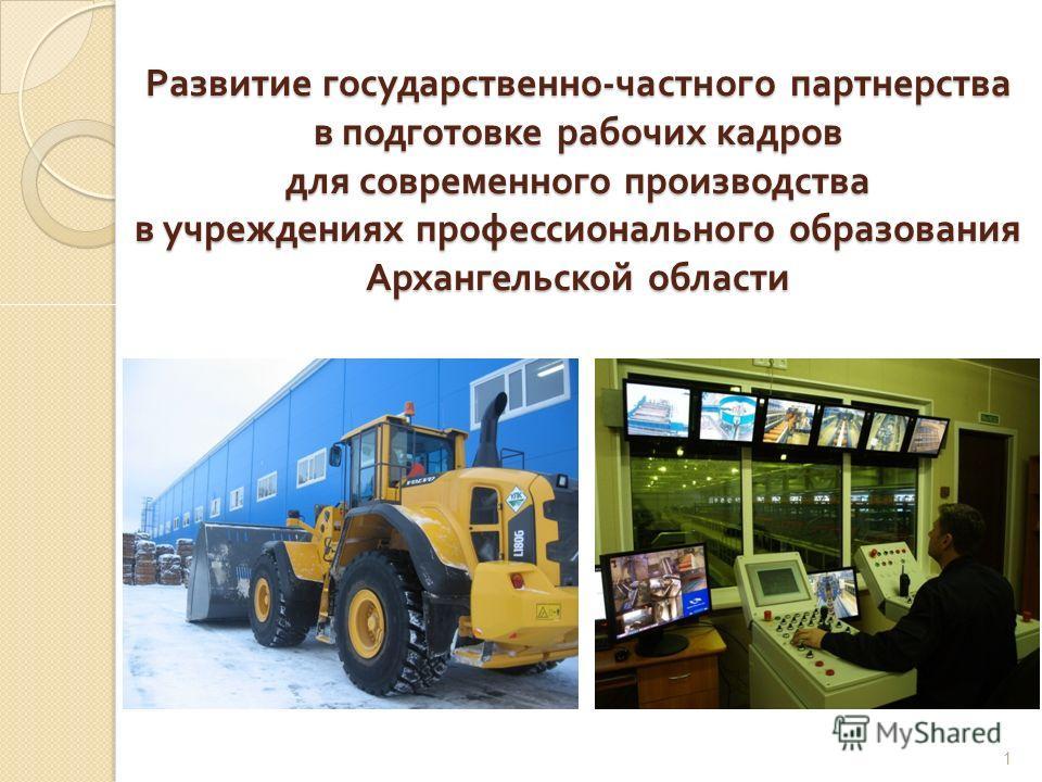 Развитие государственно - частного партнерства в подготовке рабочих кадров для современного производства в учреждениях профессионального образования Архангельской области 1