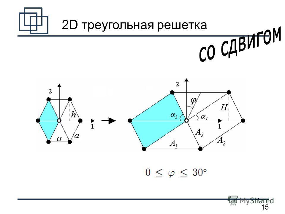 15 2D треугольная решетка
