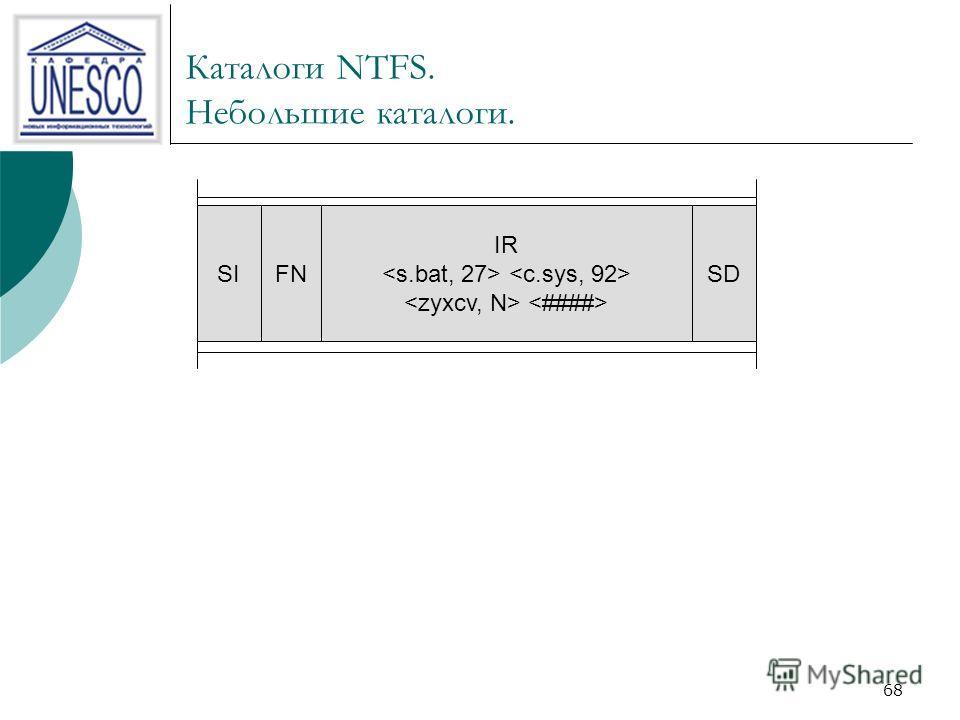 68 Каталоги NTFS. Небольшие каталоги. SIFN IR SD