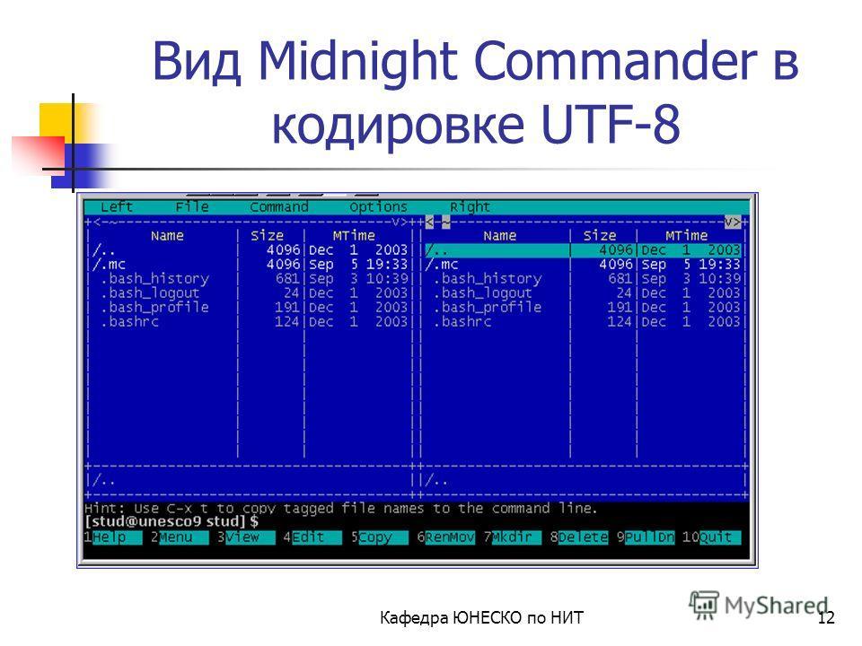 Изменение кодировки на UTF-8 Кафедра ЮНЕСКО по НИТ11