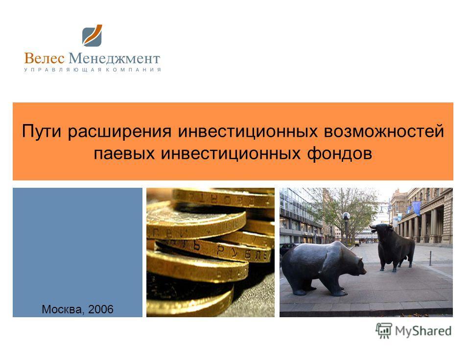Пути расширения инвестиционных возможностей паевых инвестиционных фондов Москва, 2006