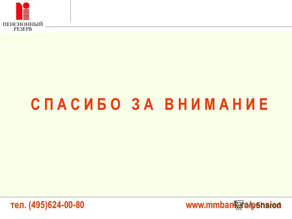 тел. (495)624-00-80 www.mmbank.ru/pension С П А С И Б О З А В Н И М А Н И Е