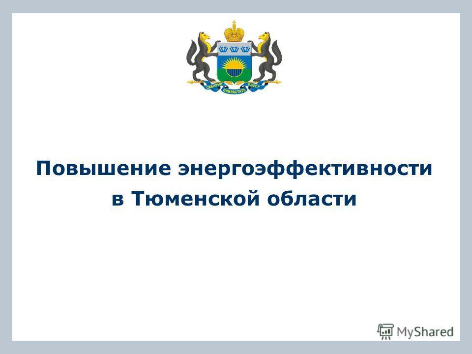 Повышение энергоэффективности в Тюменской области