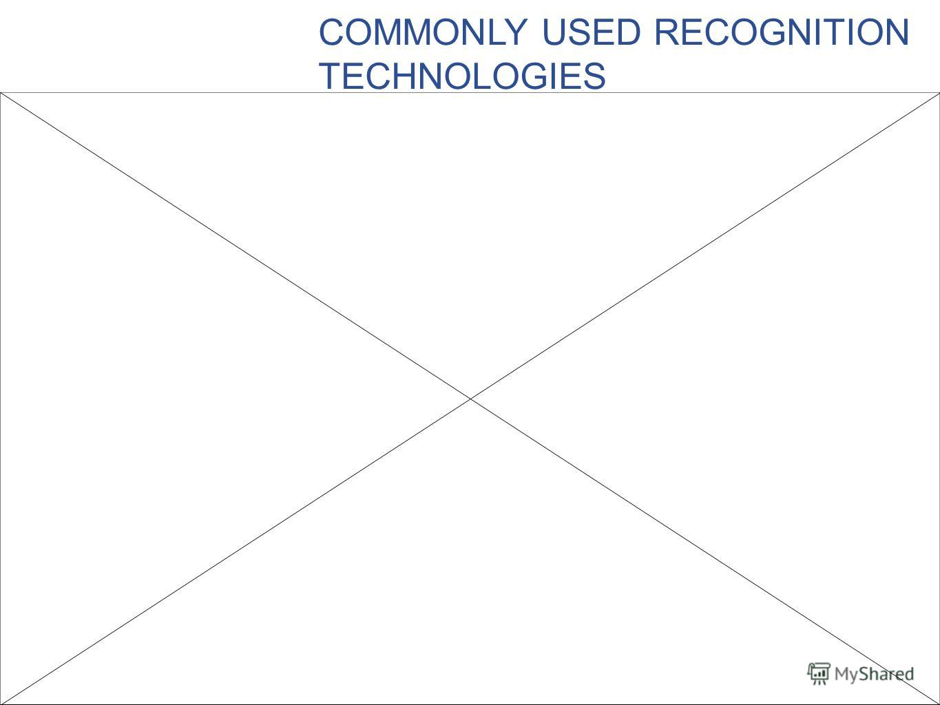 COMMONLY USED RECOGNITION TECHNOLOGIES