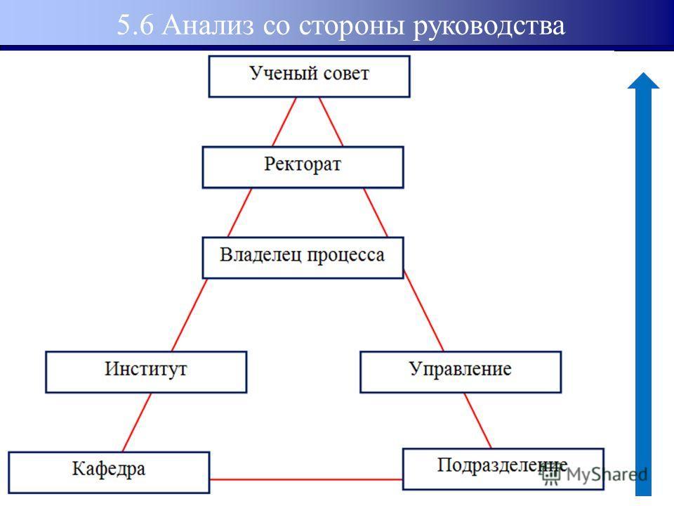 5.6 Анализ со стороны руководства