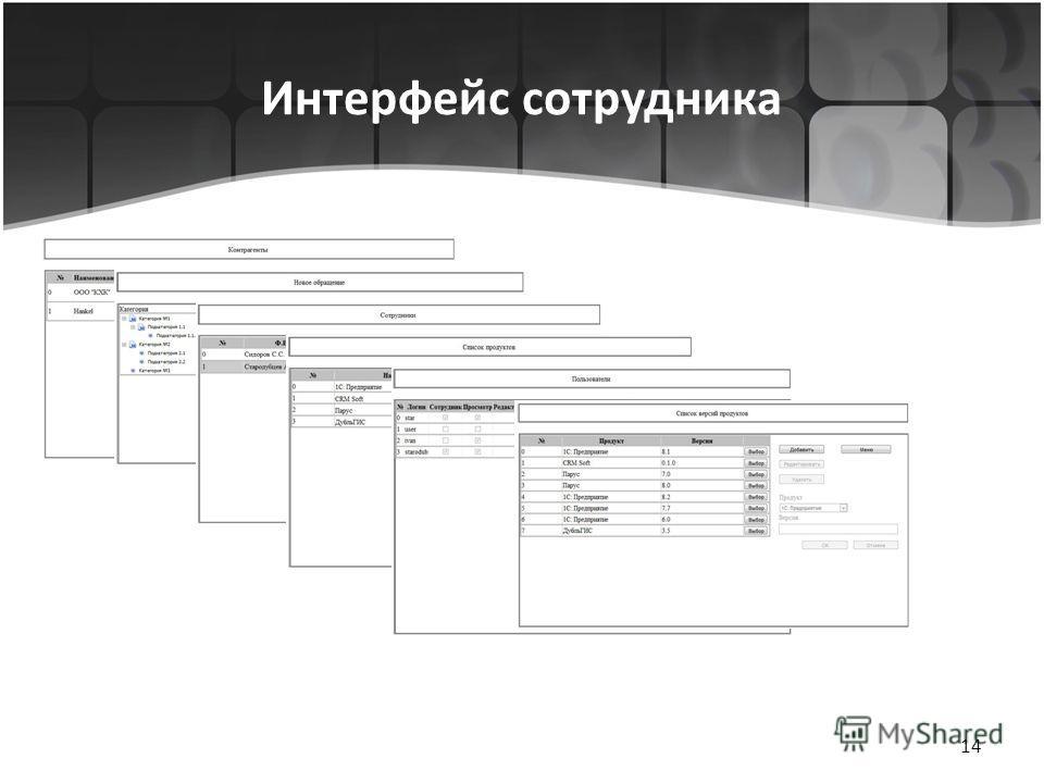 Интерфейс сотрудника 14