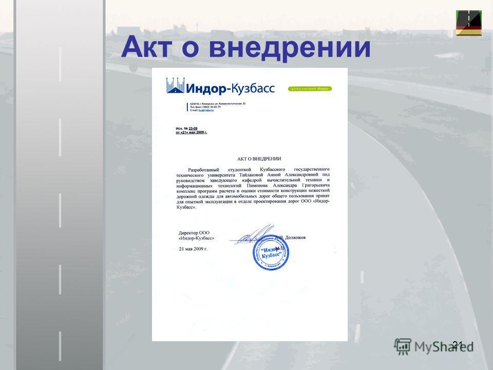 Акт о внедрении 21