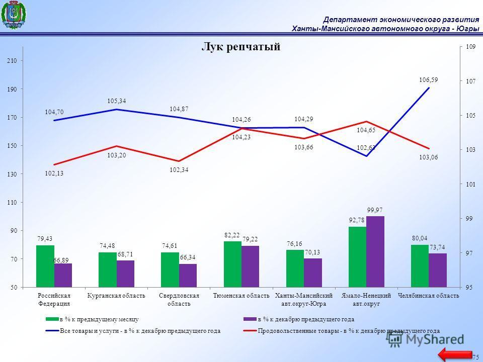 Департамент экономического развития Ханты-Мансийского автономного округа - Югры 75