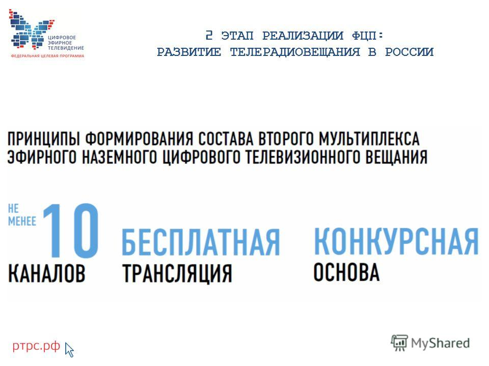 2 ЭТАП РЕАЛИЗАЦИИ ФЦП: РАЗВИТИЕ ТЕЛЕРАДИОВЕЩАНИЯ В РОССИИ