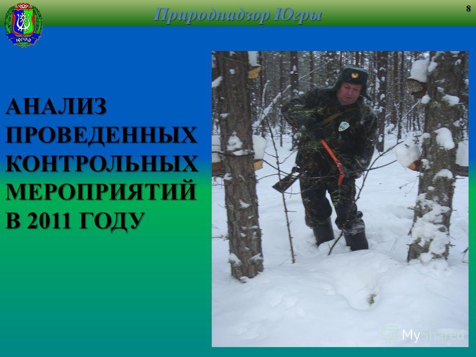 АНАЛИЗПРОВЕДЕННЫХКОНТРОЛЬНЫХМЕРОПРИЯТИЙ В 2011 ГОДУ Природнадзор Югры 8