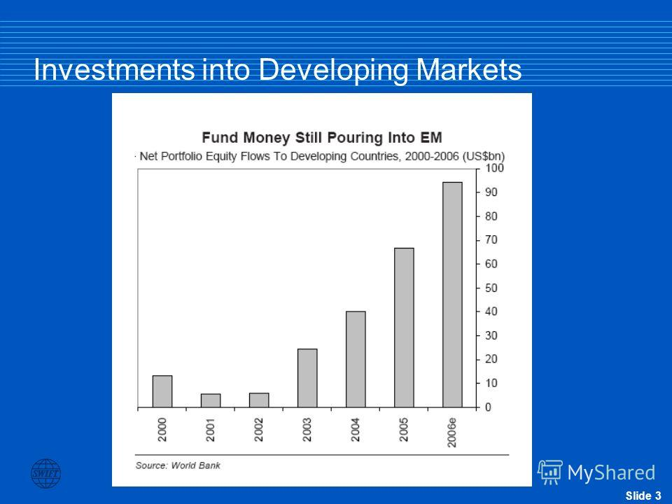 Slide 3 Investments into Developing Markets