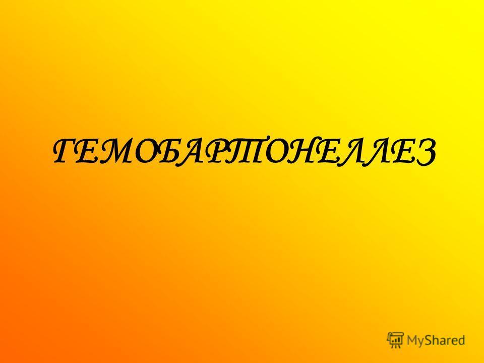ГЕМОБАРТОНЕЛЛЕЗ