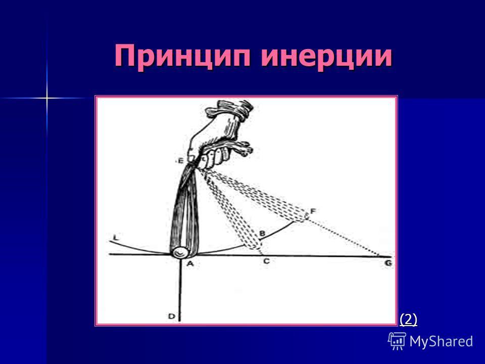 Принцип инерции Принцип инерции (2)