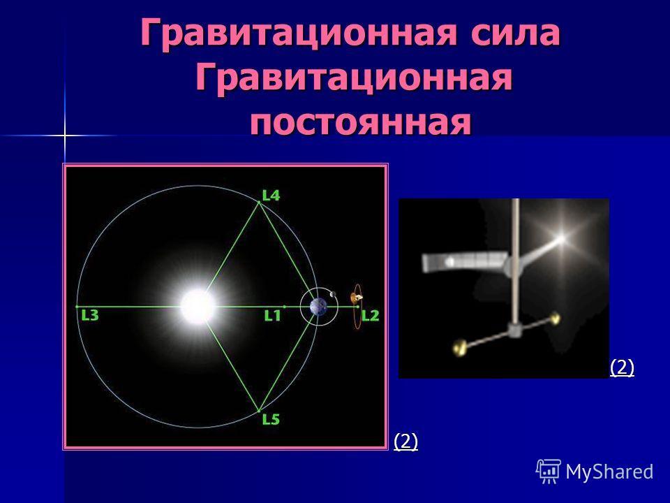 Гравитационная сила Гравитационная постоянная Гравитационная сила Гравитационная постоянная (2)