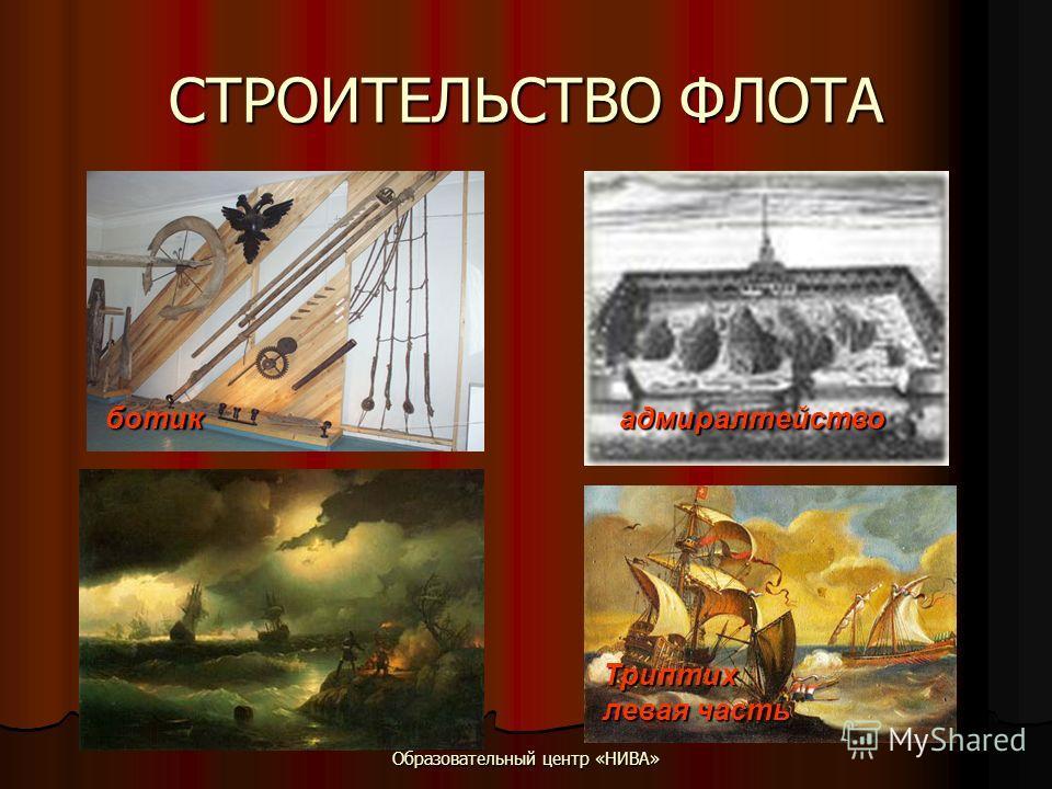 Образовательный центр «НИВА» СТРОИТЕЛЬСТВО ФЛОТА ботик адмиралтейство Триптих левая часть
