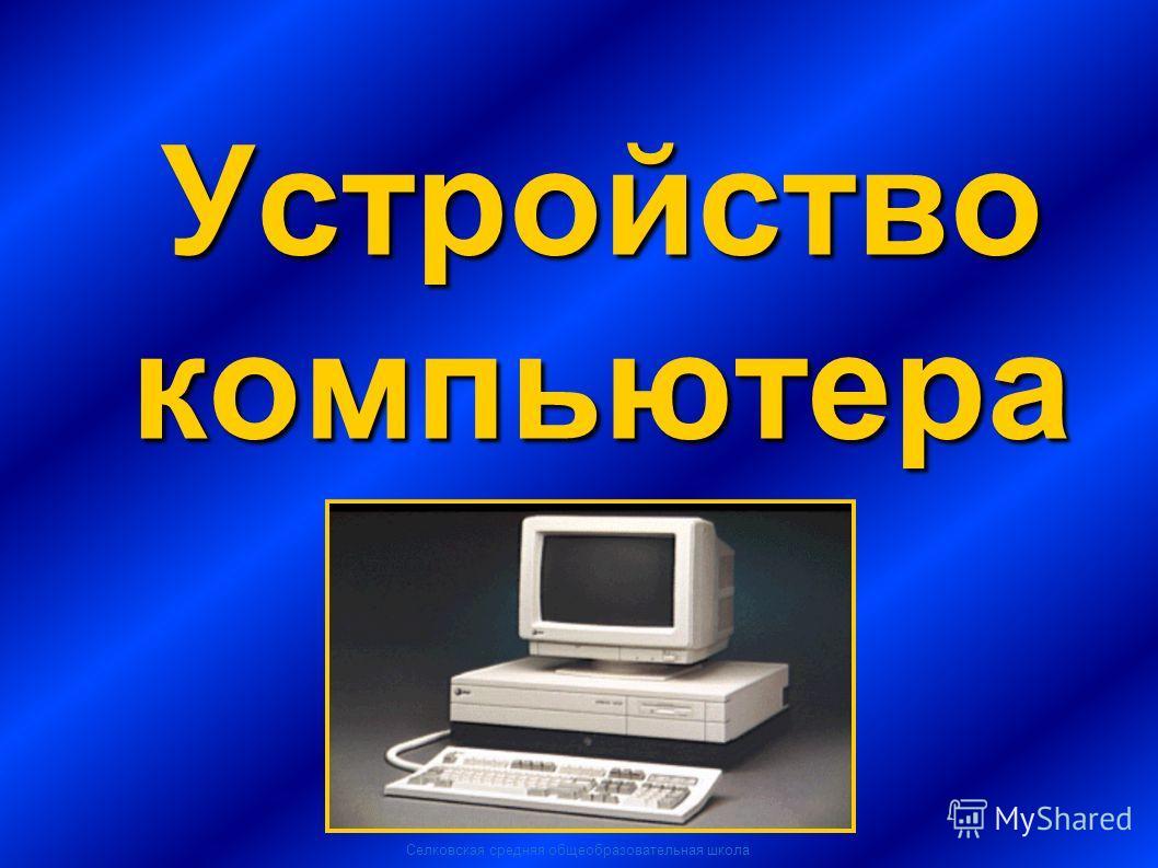 Селковская средняя общеобразовательная школа Устройство компьютера