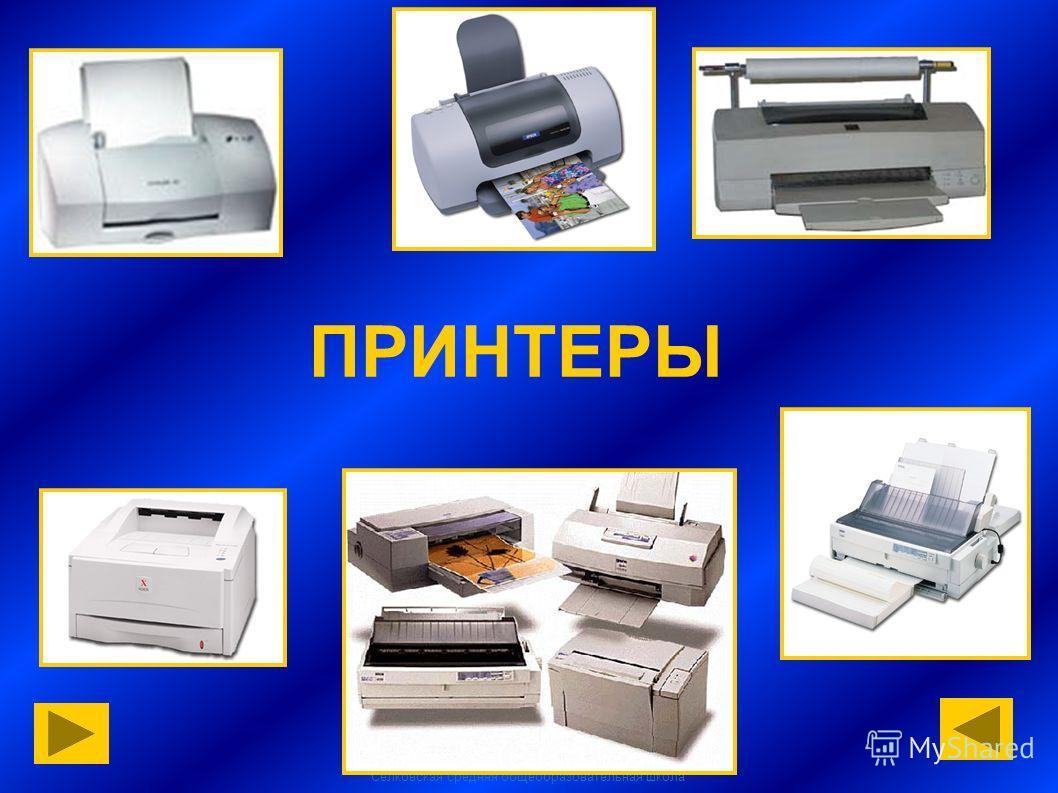 Селковская средняя общеобразовательная школа ПРИНТЕРЫ