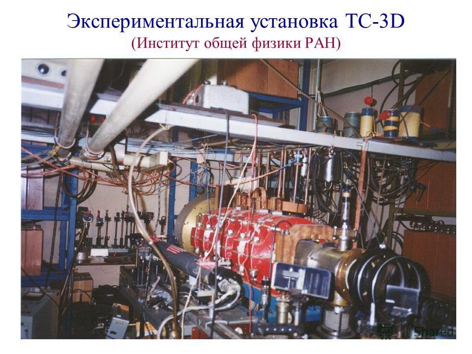 Экспериментальная установка ТС-3D (Институт общей физики РАН)
