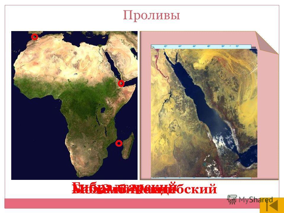 Баб-Эль-МандебскийМозамбикский Гибралтарский Проливы