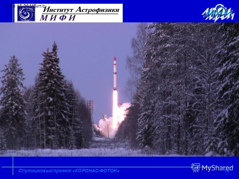 10 Спутниковый проект «КОРОНАС-ФОТОН» 7,68 и 15,36 Мбит/с;
