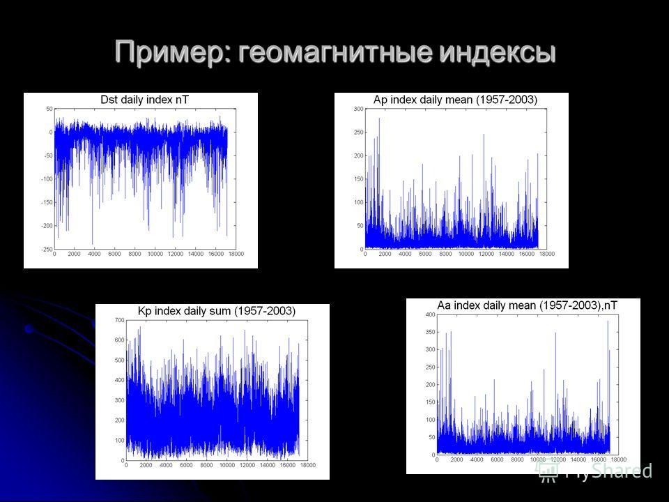 Пример: геомагнитные индексы