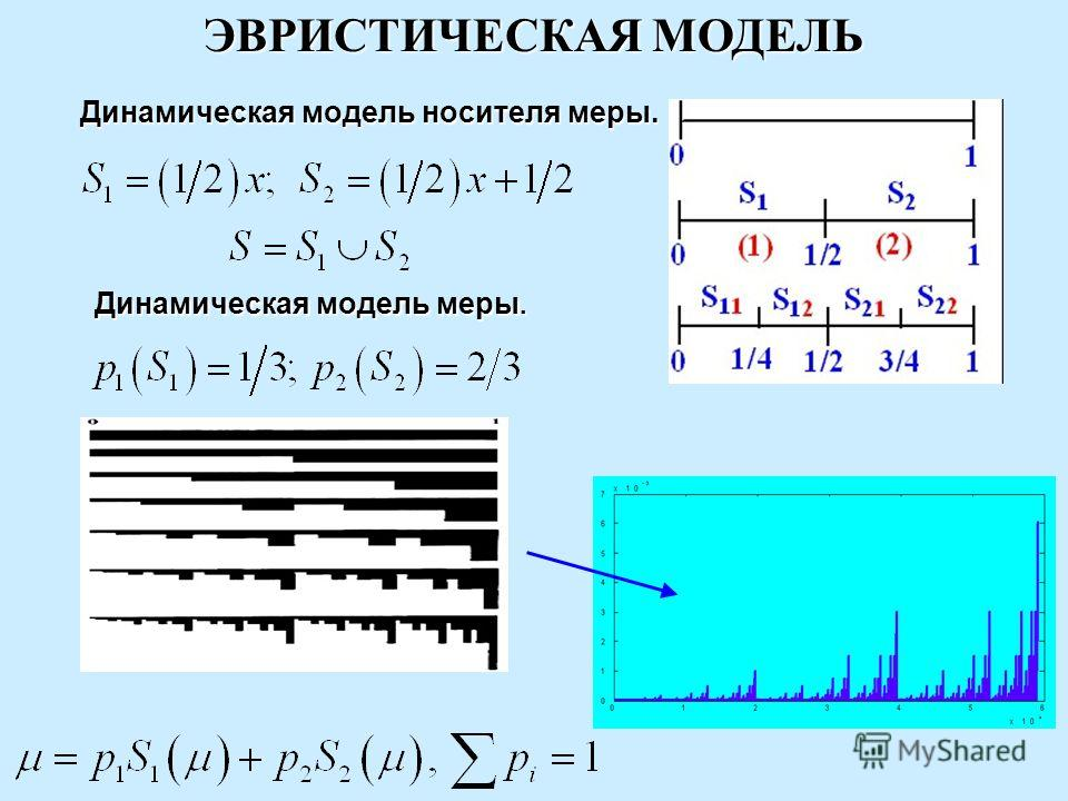 ЭВРИСТИЧЕСКАЯ МОДЕЛЬ Динамическая модель носителя меры. Динамическая модель меры.