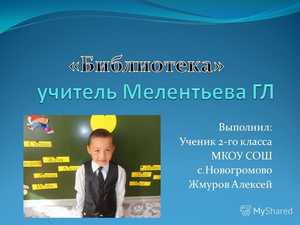 Выполнил: Ученик 2-го класса МКОУ СОШ с.Новогромово Жмуров Алексей