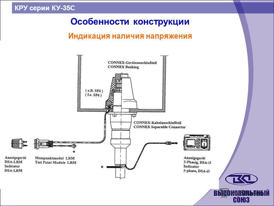 КРУ серии КУ-35С Особенности конструкции Индикация наличия напряжения