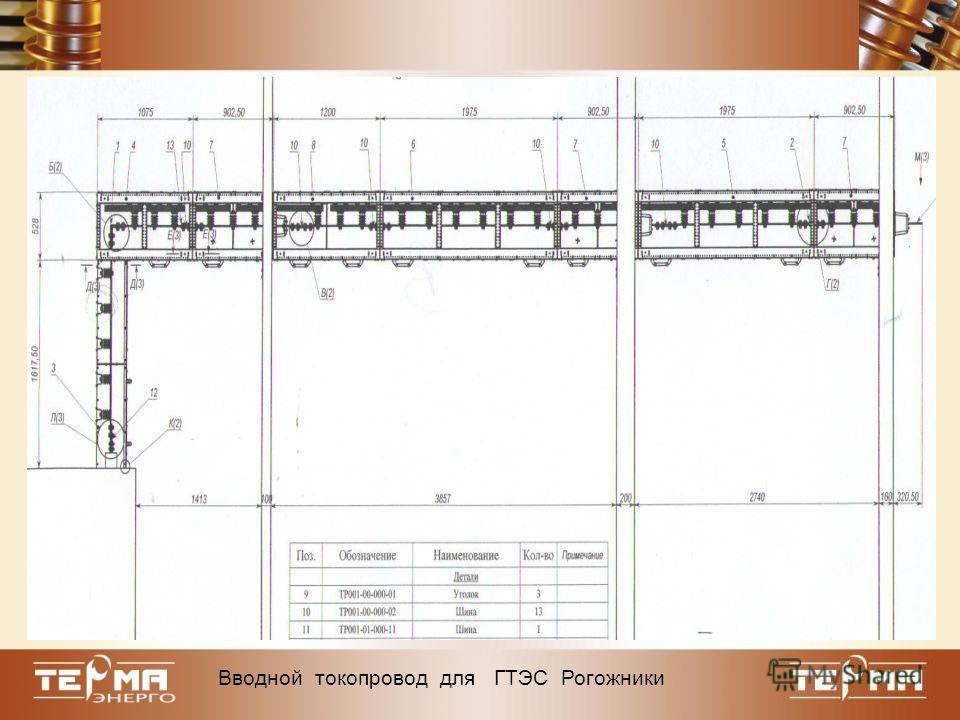 Вводной токопровод для ГТЭС