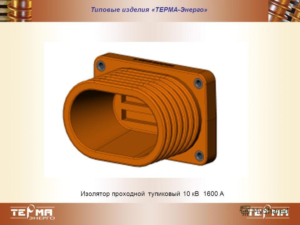 Типовые изделия «ТЕРМА-Энерго» Изолятор проходной тупиковый 10 кВ 1600 А