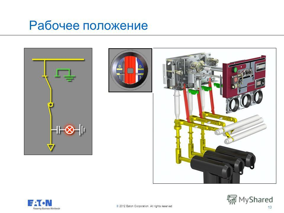 13 © 2012 Eaton Corporation. All rights reserved. Рабочее положение