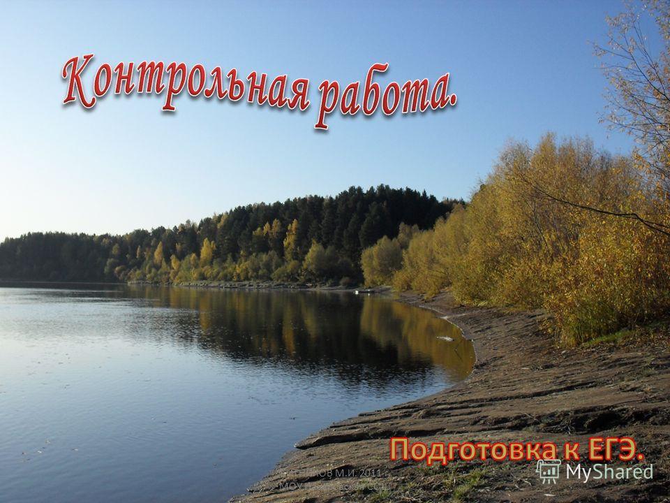 СИТНИКОВ М.И. 2011 г. МОУ Назаровская СОШ