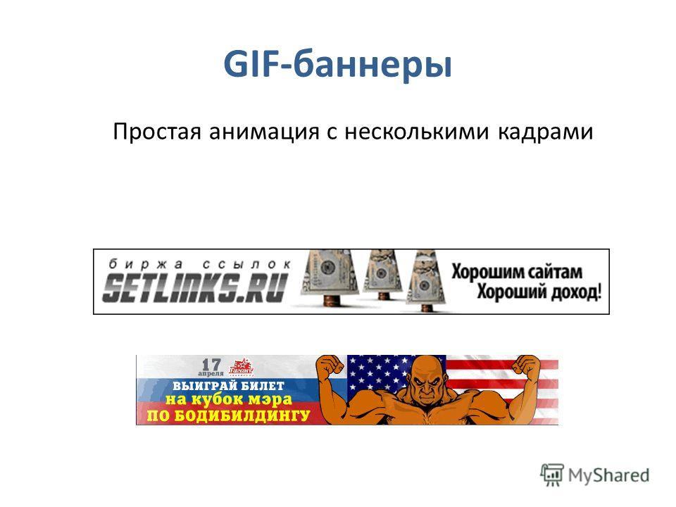 GIF-баннеры Простая анимация с несколькими кадрами