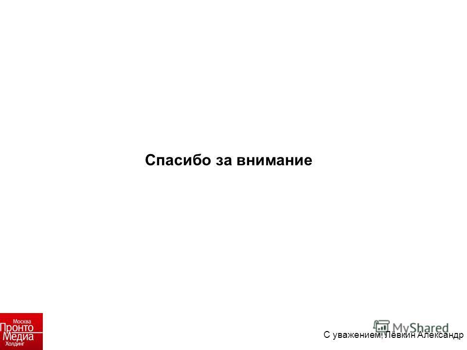 Спасибо за внимание С уважением, Лёвкин Александр