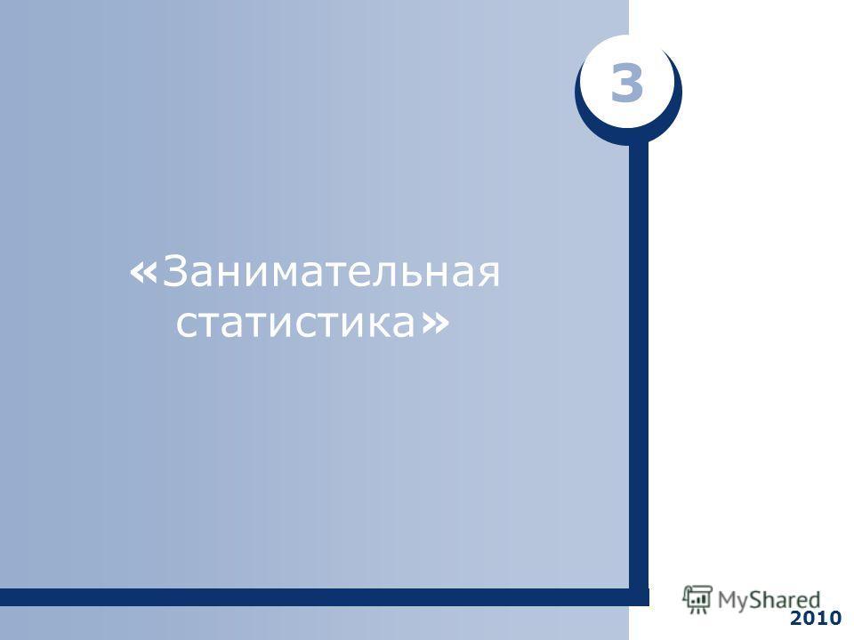 «Занимательная статистика» 3 2010