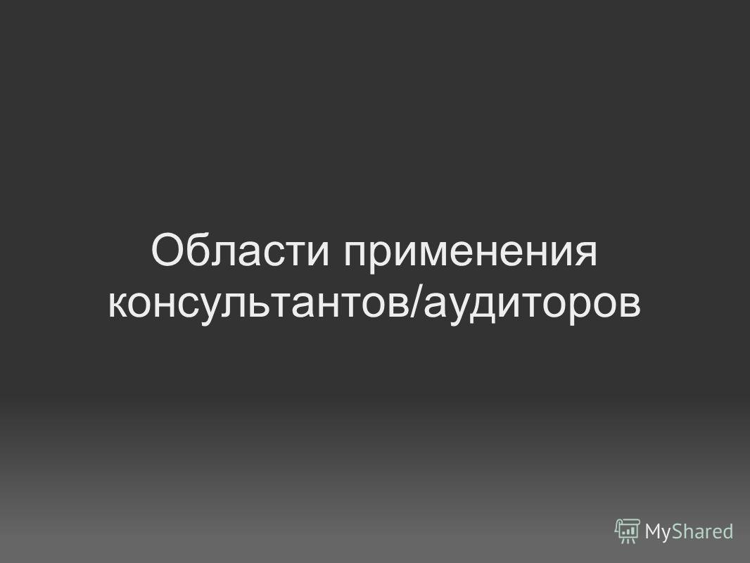 Области применения консультантов/аудиторов