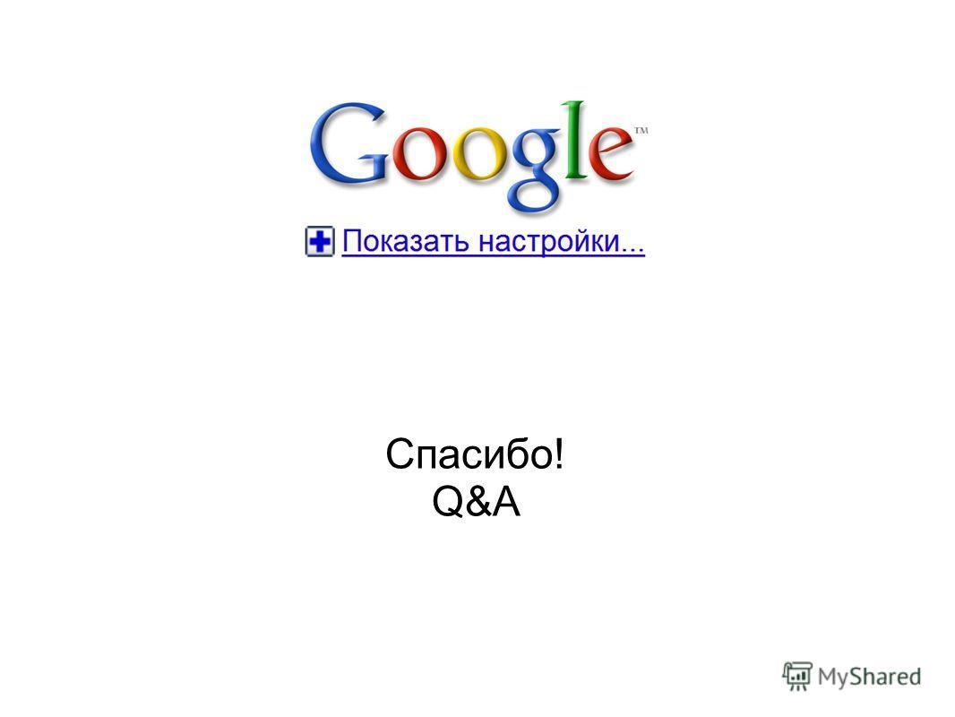 Спасибо! Q&A