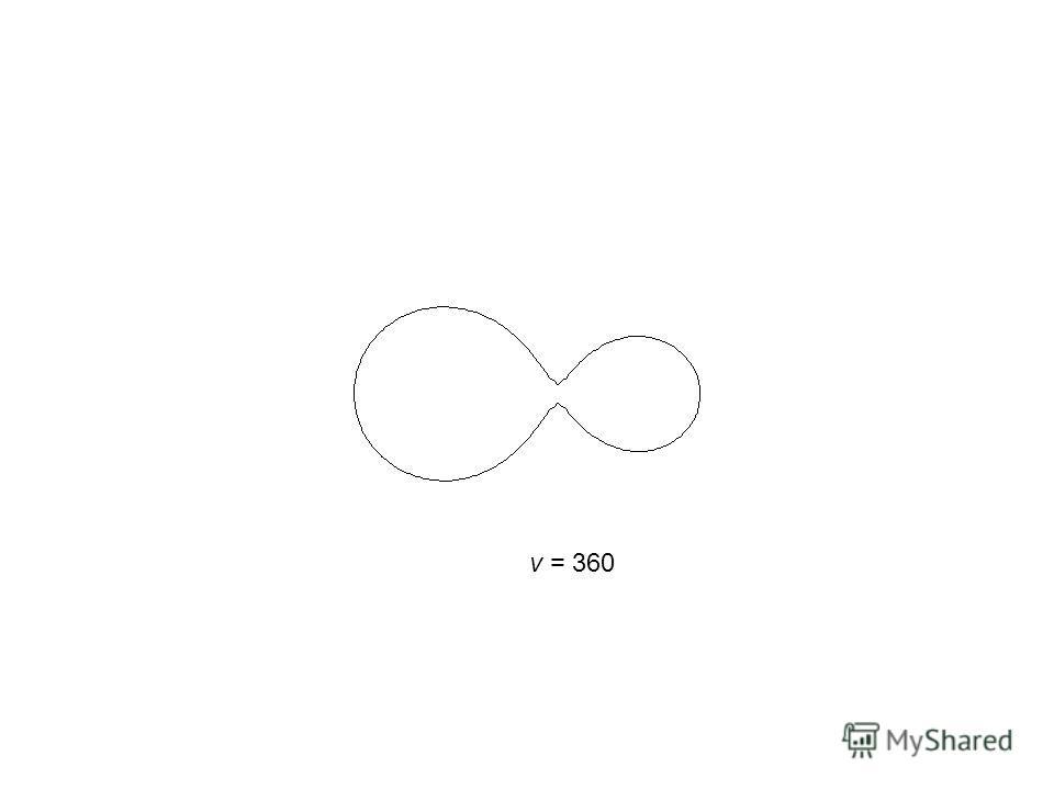 v = 360