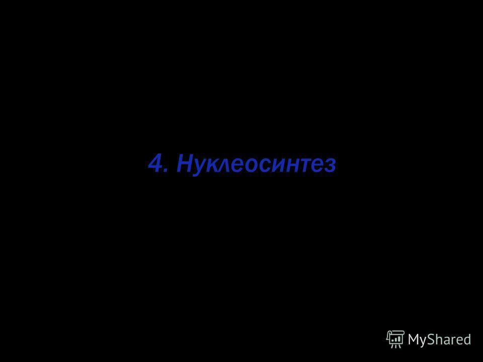 4. Нуклеосинтез