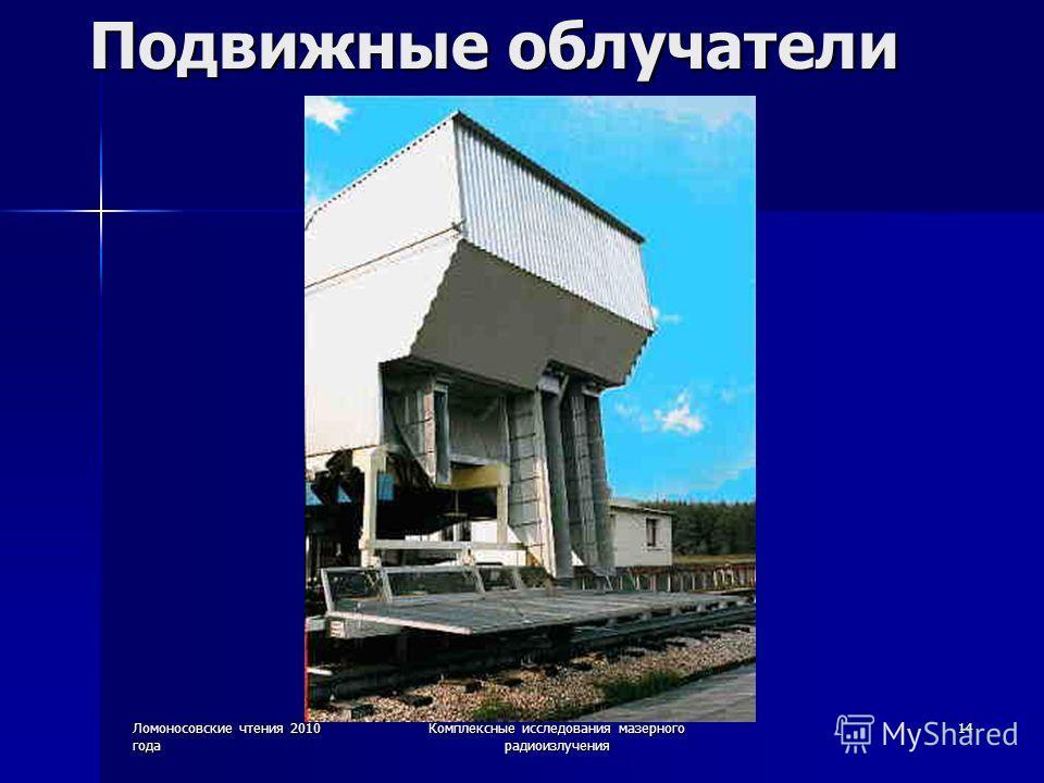 Ломоносовские чтения 2010 года Комплексные исследования мазерного радиоизлучения 14 Подвижные облучатели