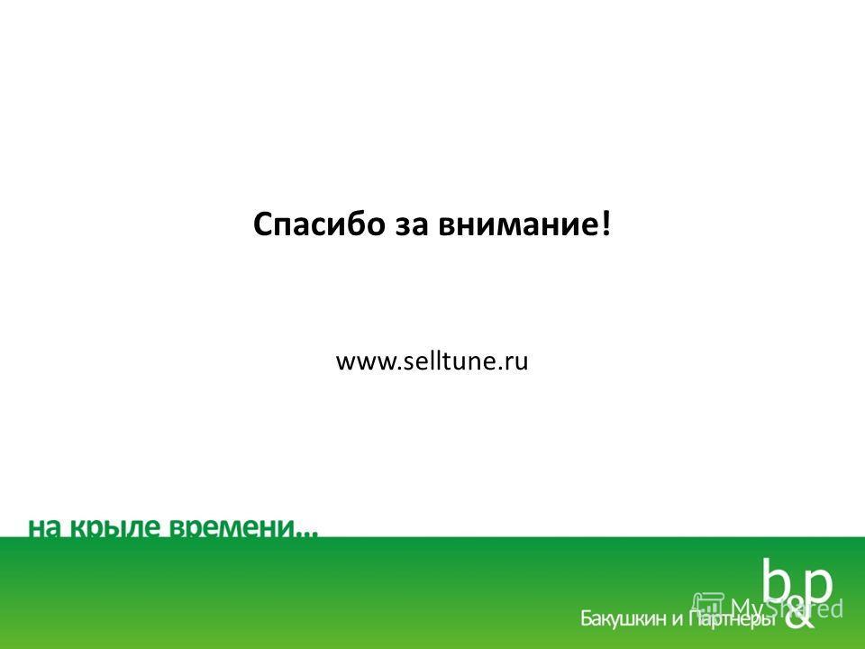 Спасибо за внимание! www.selltune.ru