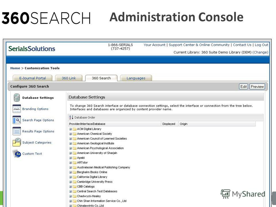 Administration Console