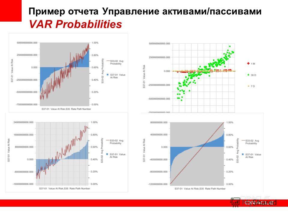 Пример отчета Управление активами/пассивами VAR Probabilities
